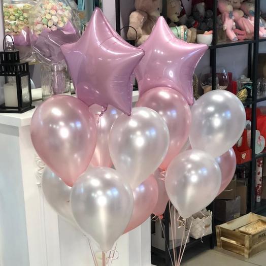 Воздушные шары 2 фонтана ( можно разделить )