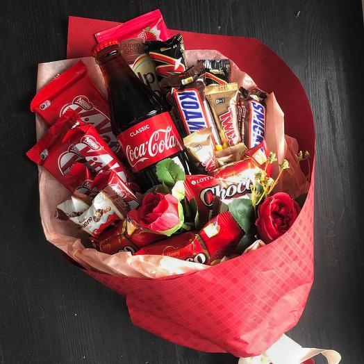 Букет из конфет «sweety red»