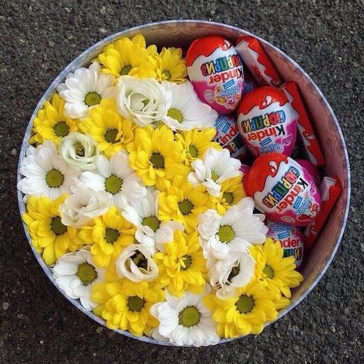 Цветы в коробке «Летний луч»