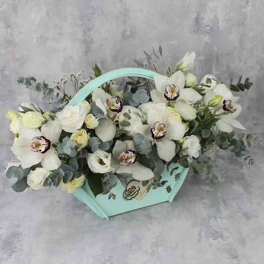Ящик с цветами «Белый день»