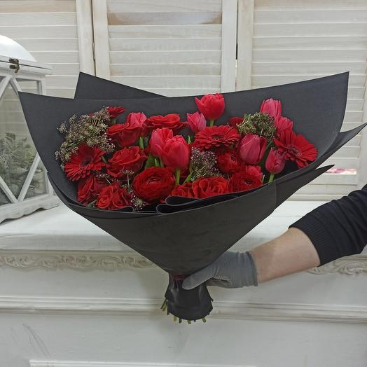 """Букет """"Красное и  Черное"""""""