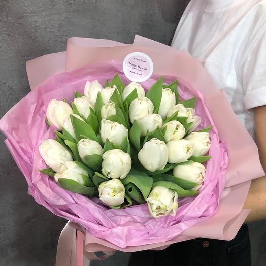 Букет нежный Тюльпанов пионовидных