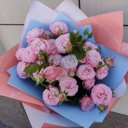 Букет «Мечта» из пионовидной кустовой розы