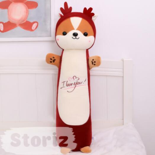 """Мягкая игрушка-подушка """"Обнимашки от корги"""" 55см, бордовый"""