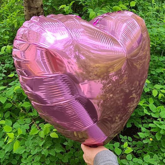 Шар фольгированный Розовое сердце