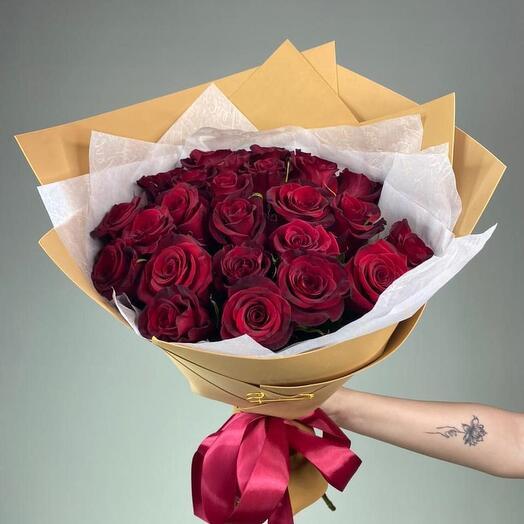 Букет з 25 троянд 50см