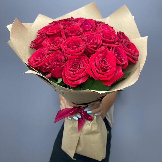 23 красные розы