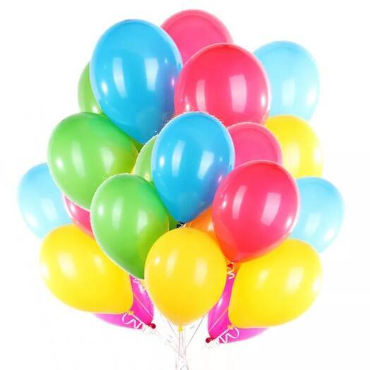 Набор из разноцветных гелиевых шаров 25