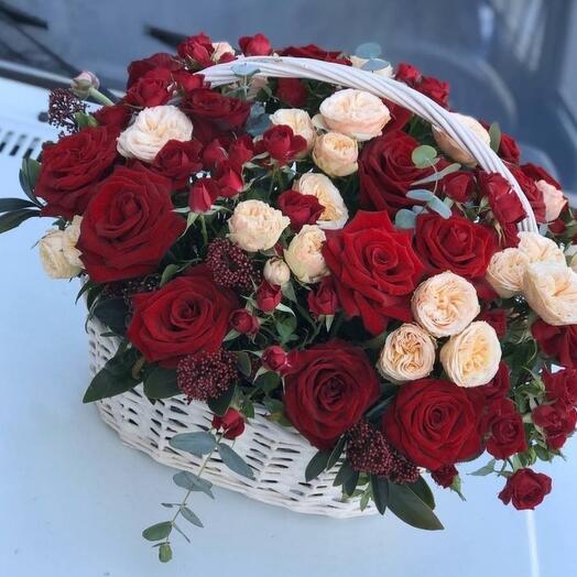 Корзина с цветами шик🔥