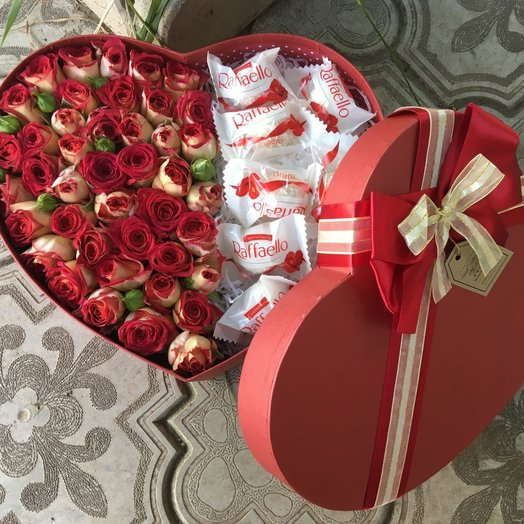 """Сердце малое """"Рубиновый браслет"""": букеты цветов на заказ Flowwow"""