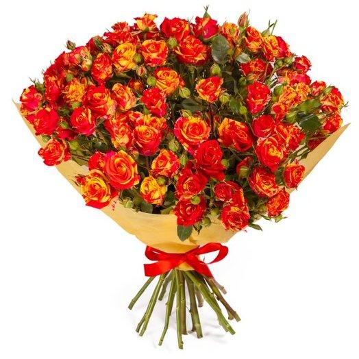 Букет кустовых роз микс : букеты цветов на заказ Flowwow