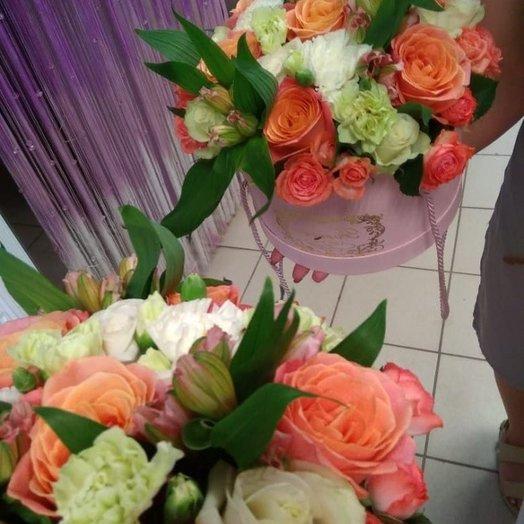 Коробка с розами Мисс Пигги
