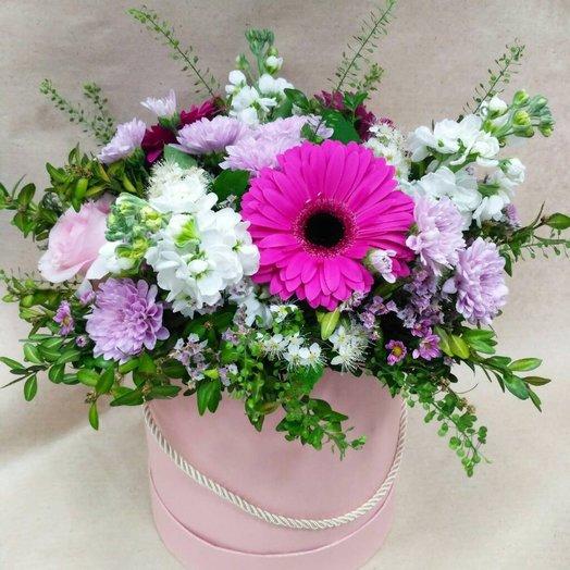 """Шляпная коробка """"Воздушная"""": букеты цветов на заказ Flowwow"""