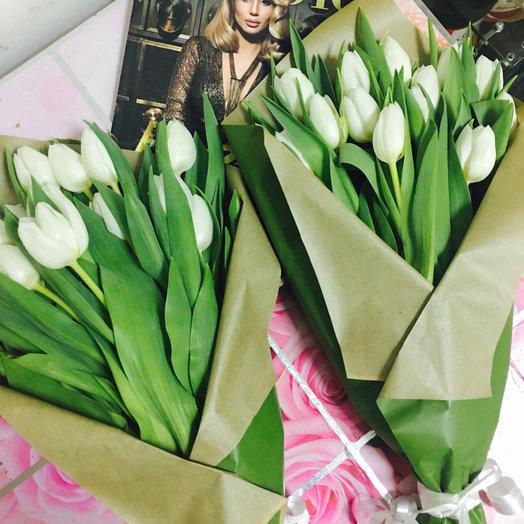 Белые тюльпаны : букеты цветов на заказ Flowwow
