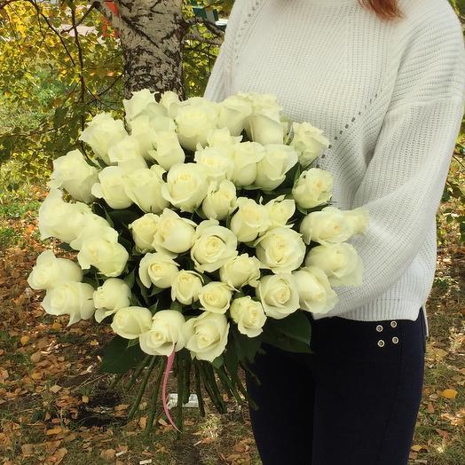 Букет шикарных белых роз