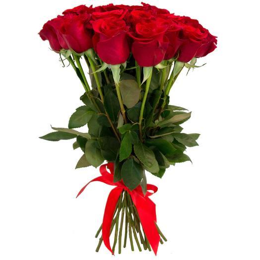 25 красных голландских роз: букеты цветов на заказ Flowwow