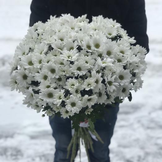 Букет из 25 хризантем: букеты цветов на заказ Flowwow