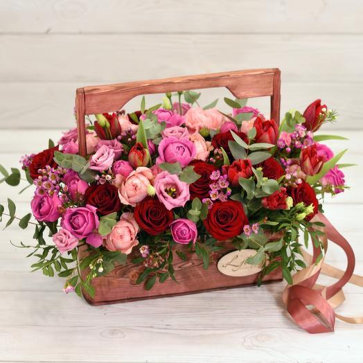 Ящик Bentley: букеты цветов на заказ Flowwow