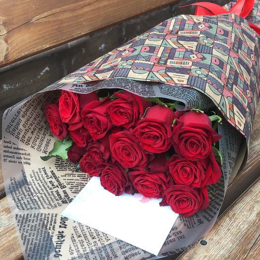 15 роз престиж: букеты цветов на заказ Flowwow