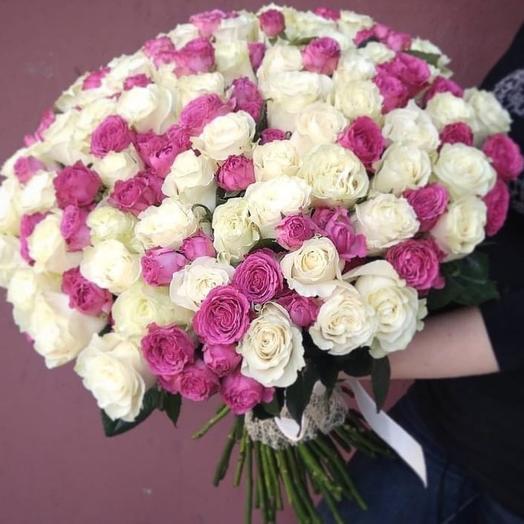 Вдвойне красивая: букеты цветов на заказ Flowwow
