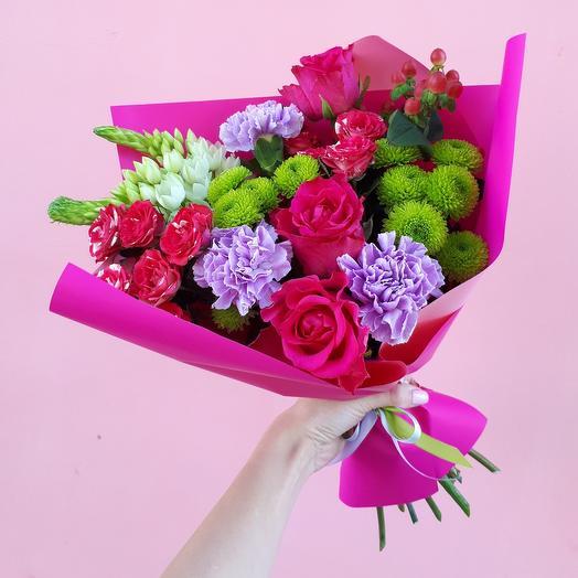Букет «Малиновая радость»: букеты цветов на заказ Flowwow
