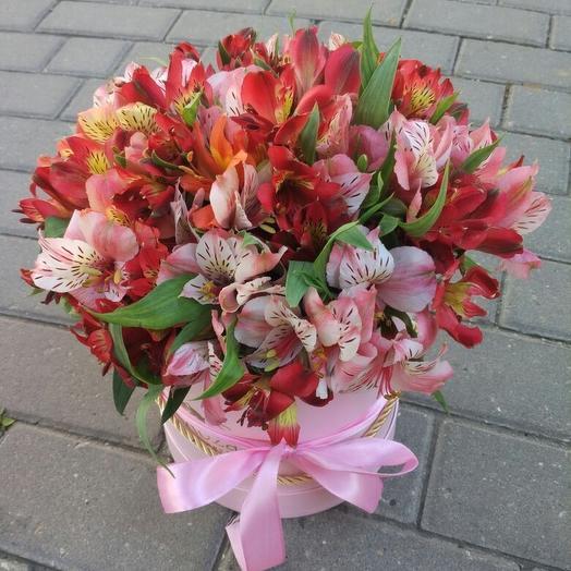 Коробка с альстромерией: букеты цветов на заказ Flowwow