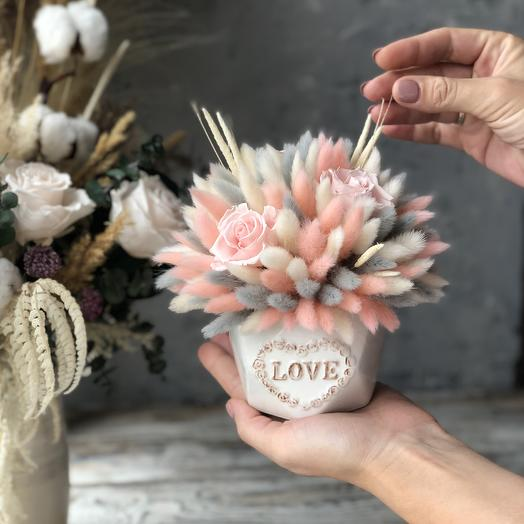Интерьерная плюшевая зефирка: букеты цветов на заказ Flowwow