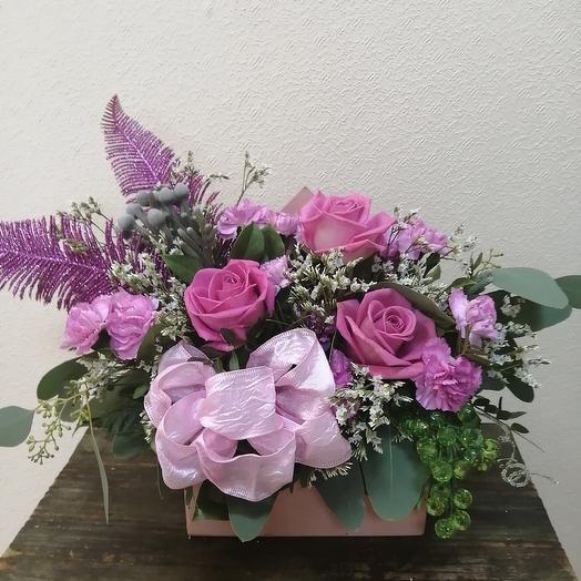 Ящик в форме конверта: букеты цветов на заказ Flowwow
