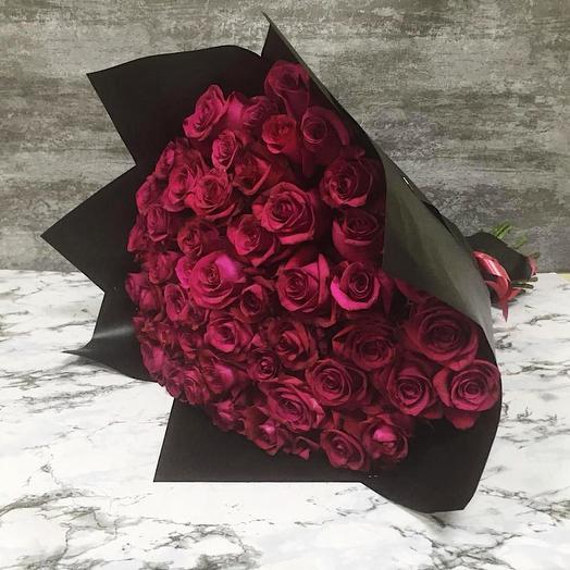 Эквадорские розы 51 шт: букеты цветов на заказ Flowwow