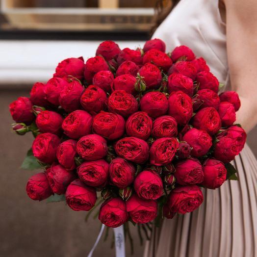 Букет пионовидных роз 51 шт: букеты цветов на заказ Flowwow