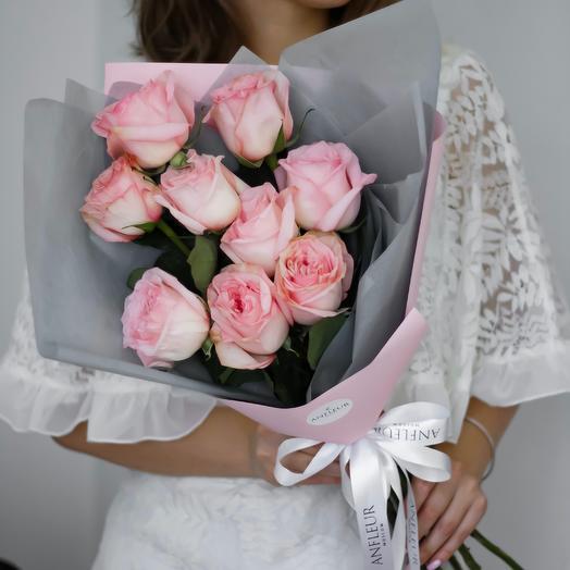 Букет-комплимент из роз Пинк Охара: букеты цветов на заказ Flowwow
