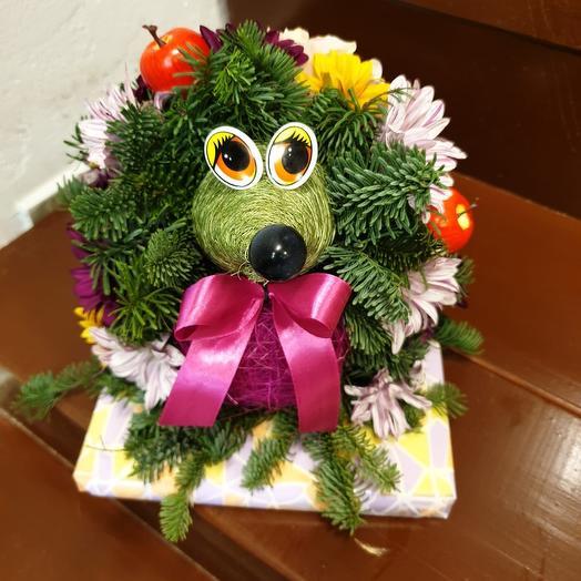 Лесной ёжик): букеты цветов на заказ Flowwow