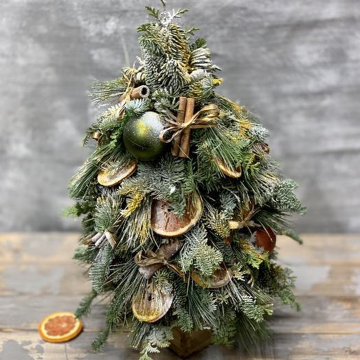 Новогодняя ёлочка «Праздничное настроение»: букеты цветов на заказ Flowwow