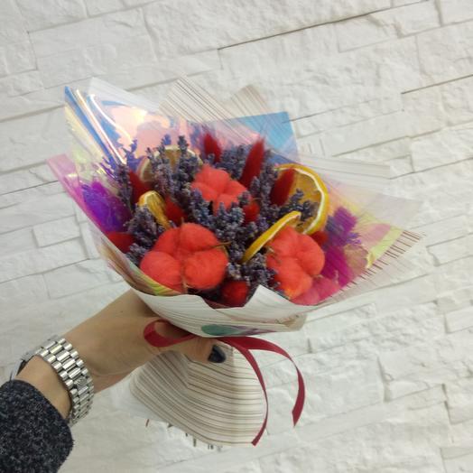 "Букет сухоцвет ""Сангрия"": букеты цветов на заказ Flowwow"