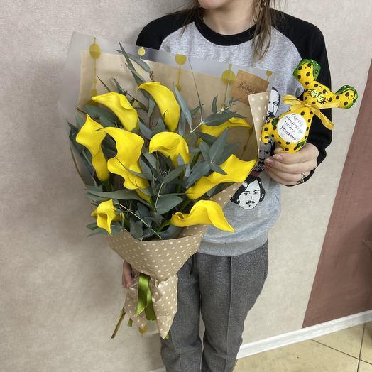 Каллы для любимой: букеты цветов на заказ Flowwow