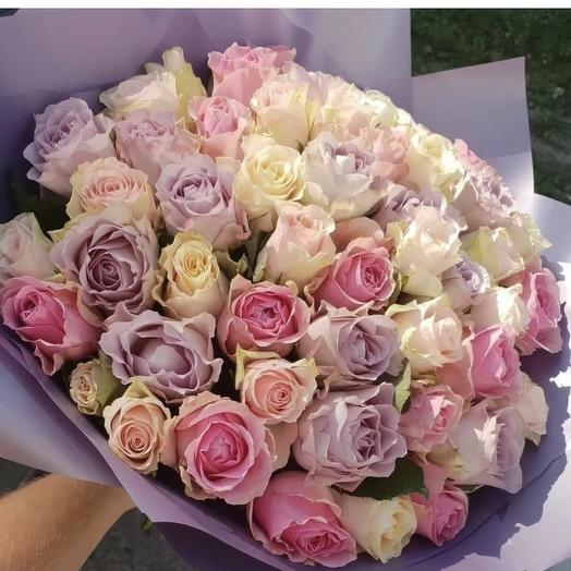 Нежный (51роза): букеты цветов на заказ Flowwow