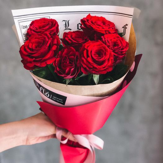 Яркий букет из роз: букеты цветов на заказ Flowwow