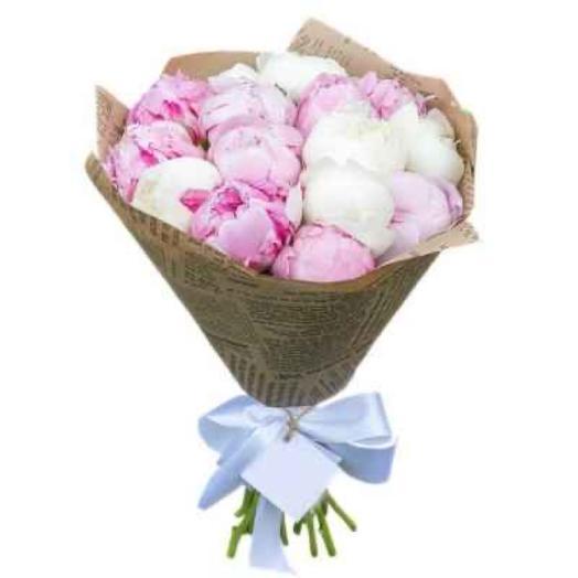 Пион 15 шт: букеты цветов на заказ Flowwow