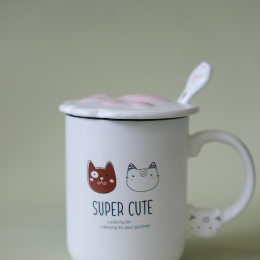 "Кружка с крышкой ""Super Cute"""