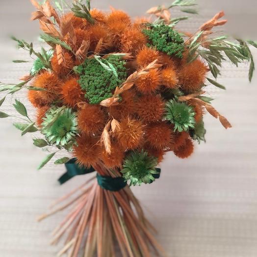 Букетик сухоцветов Апельсинчик