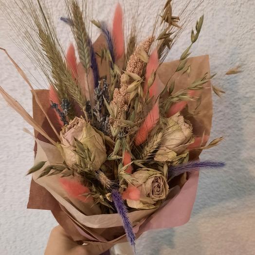 Букет из сухоцветов с ароматной лавандой