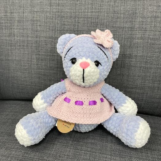 Медвежонок в розовом платьице
