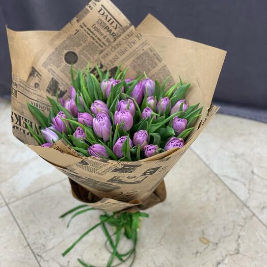 Монобукет из пионовидных тюльпан