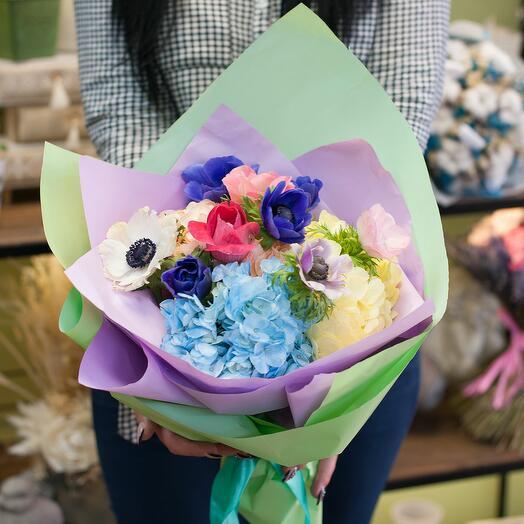 Букет цветов Звездочки на земле