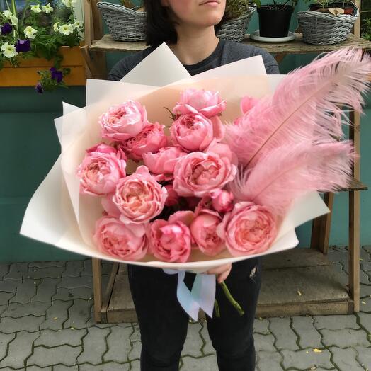 Моно букет кустовая Роза Джульетта