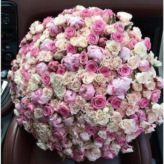 Розово-кремовое суфле