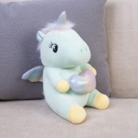 Мягкая  игрушка «Единорог с сердцем»