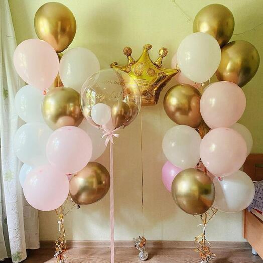 Сет из шаров «Принцесса»