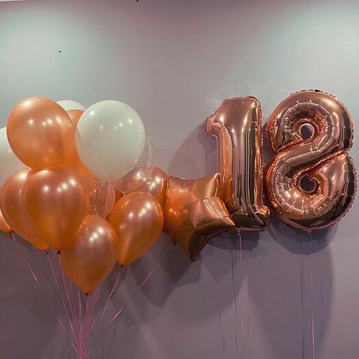 Набор воздушных шаров с любой цифрой