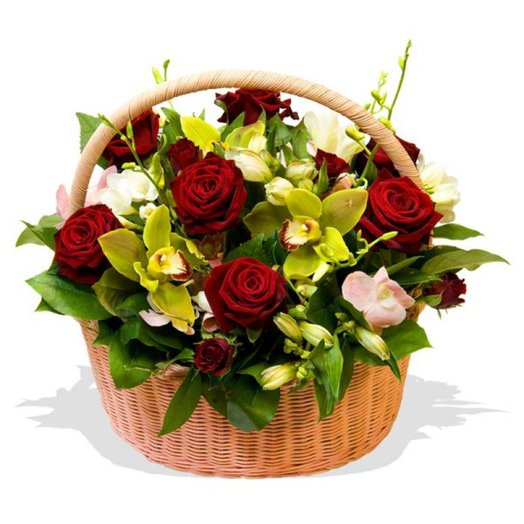 Корзина цветов Барселона: букеты цветов на заказ Flowwow